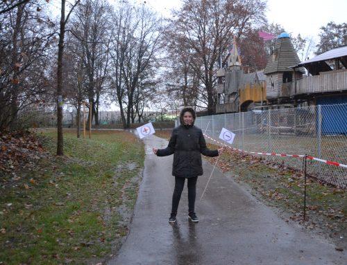 Das Laimer Jugendzentrum: Weg durch den Park